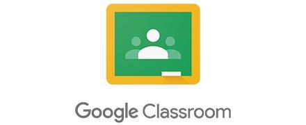 Google Classroom logo, green square with outline of three people