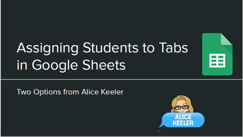 Adding Students to Tabs