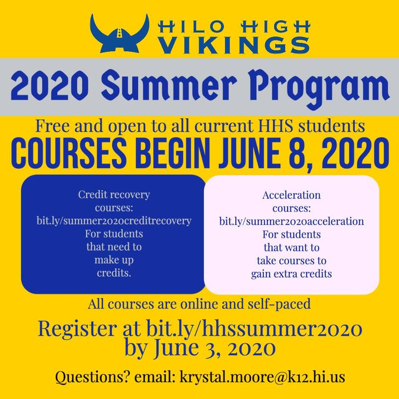Summer Acceleration and Credit Recovery Programs Announced Featured Photo
