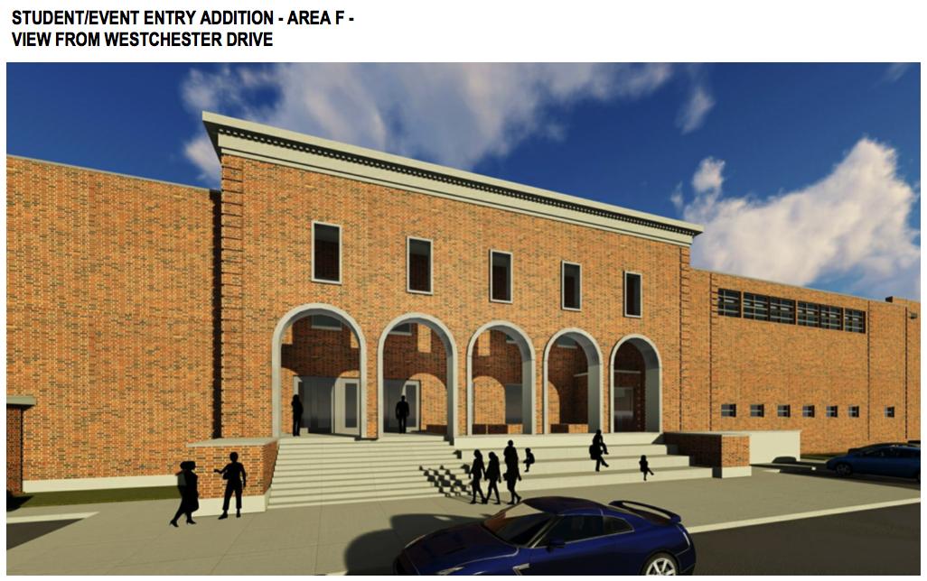 Student entrance rendering