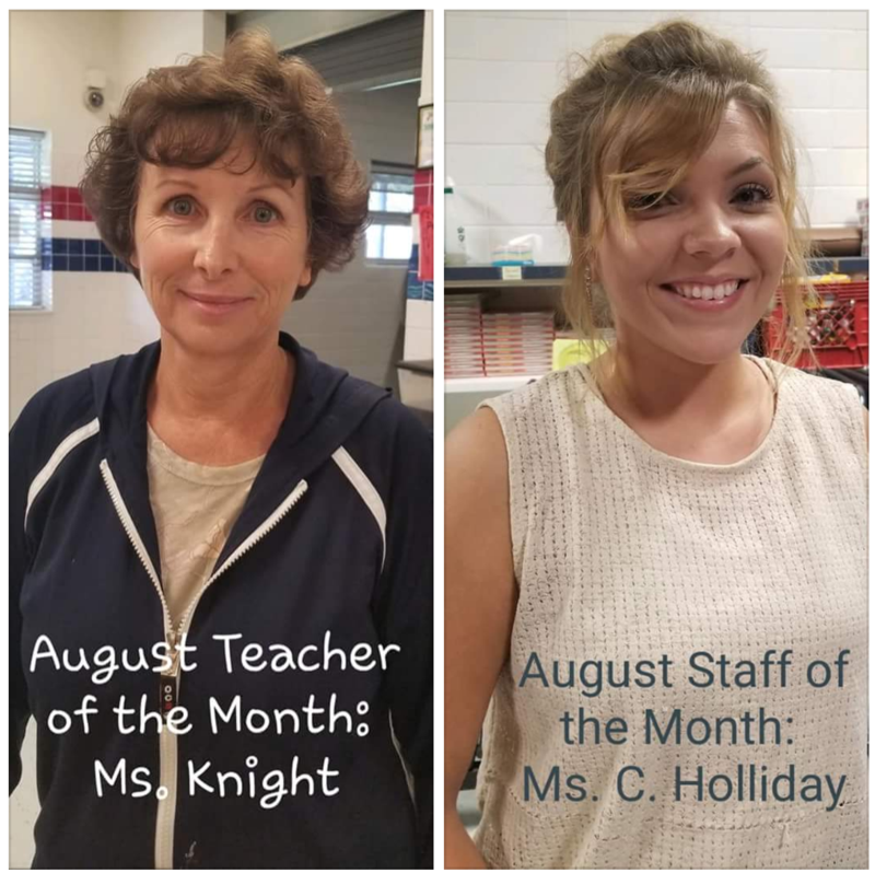 Teacher and Staff of the month
