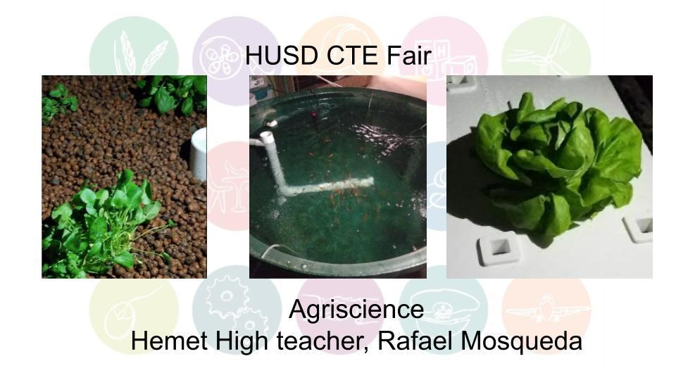Agriscience Hemet High teacher, Rafael Mosqueda