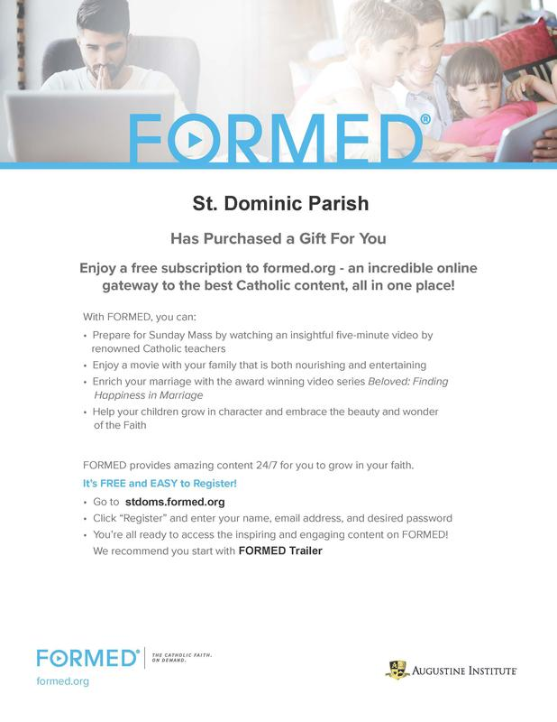 Saint Dominic Has Purchased a Gift For You Featured Photo
