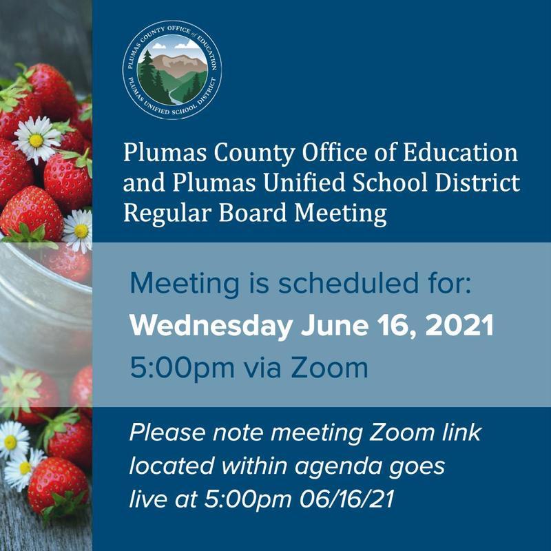 PUSD board meeting agenda 6-16-21