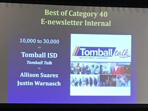 Tomball Talk award