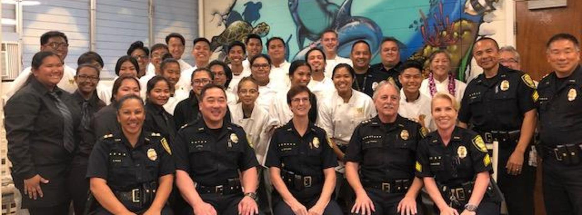 Marauder Cafe host the Honolulu Police Dept