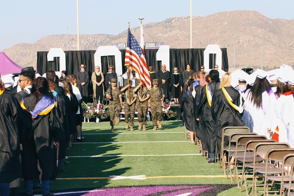 ROTC flag salute
