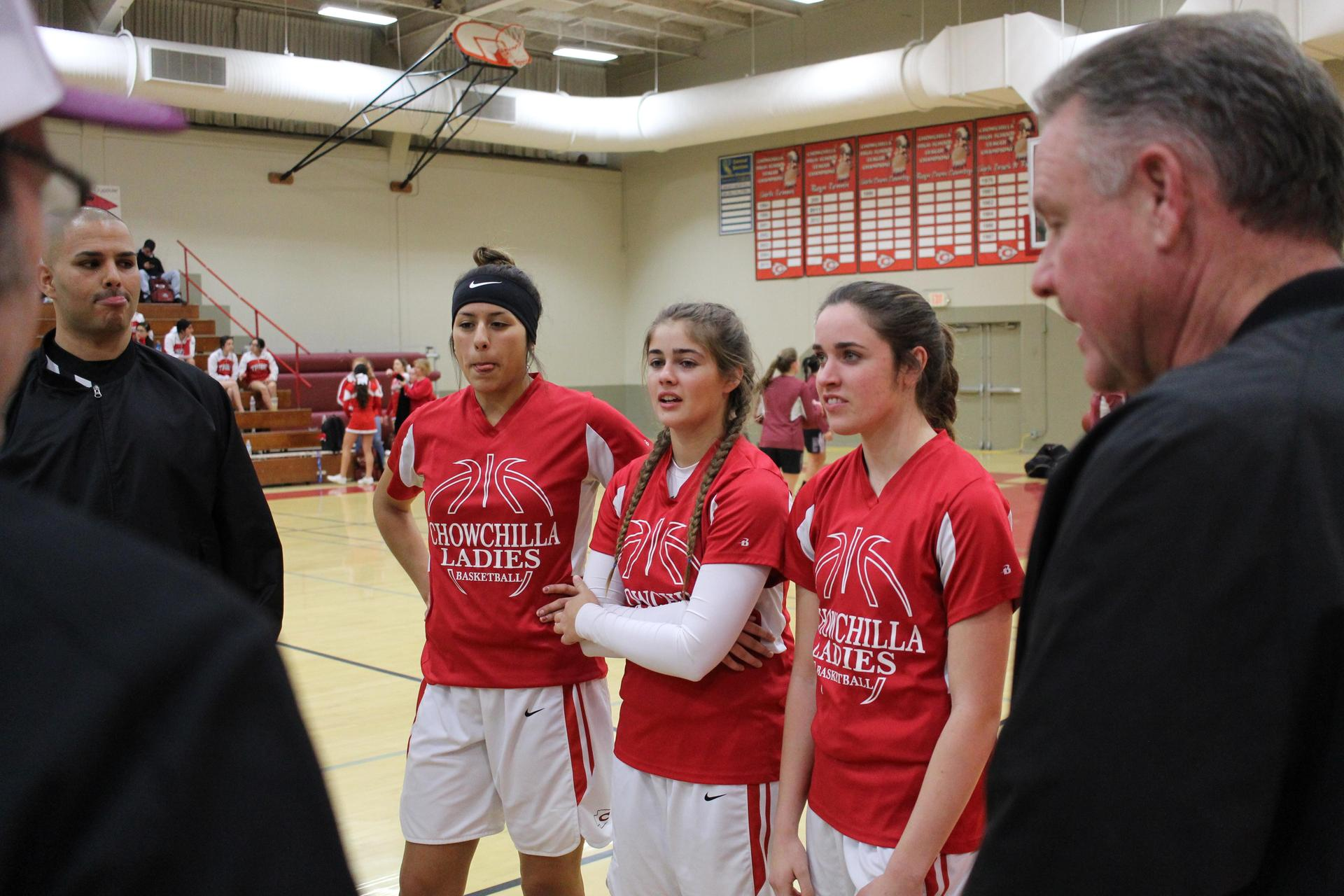 Varsity girls basketball pregame vs Fresno Christian