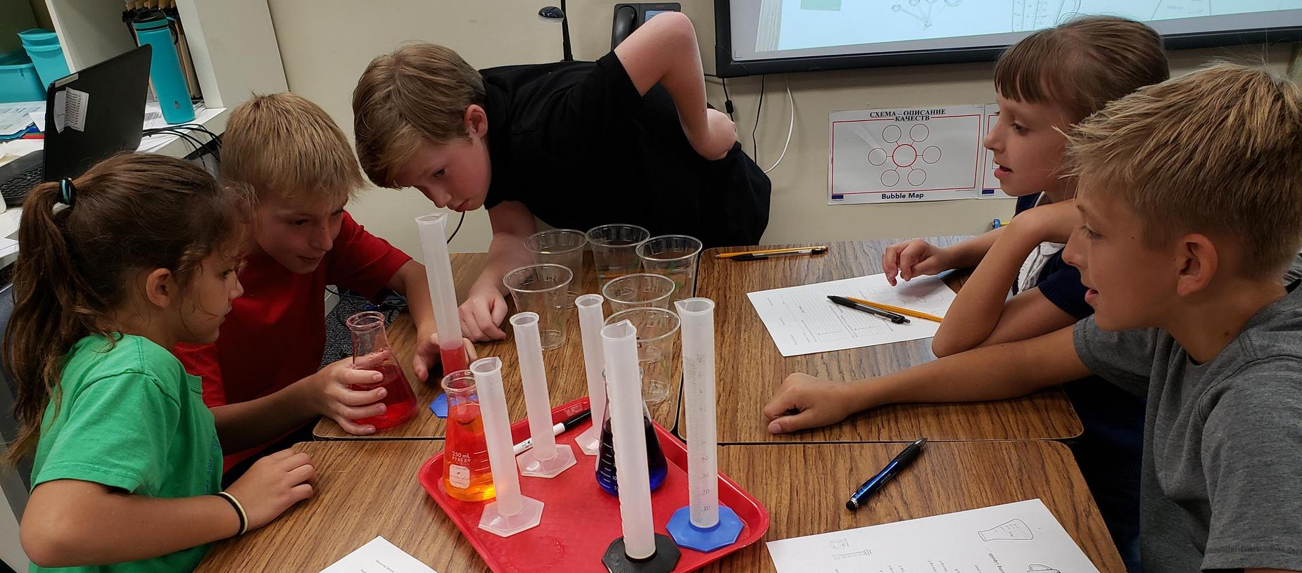 science classStudents Performing Science Experiment in Class