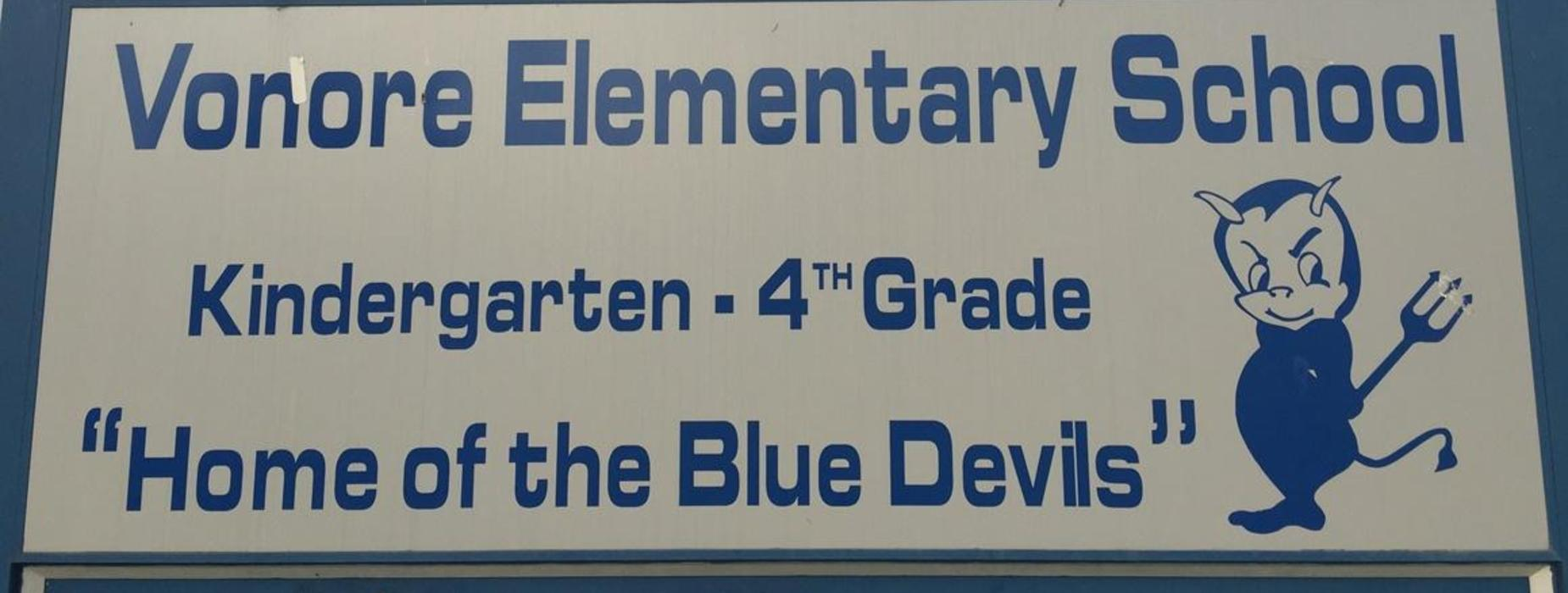 School sign in front of our school.
