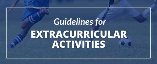 Guidelines for Extracurricular with background image of two boys playing soccer