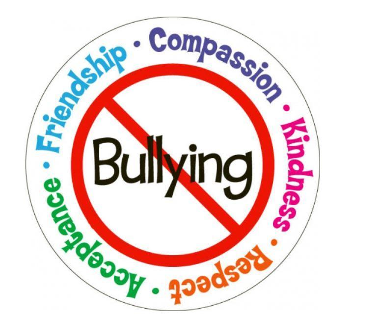 Bullying word image crossed out