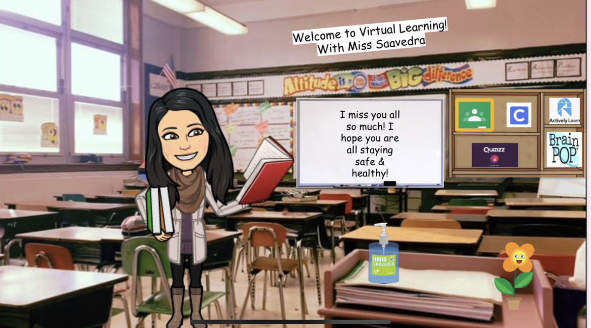 Welcome to Miss Saavedra's 6th grade ELA Virtual Class!