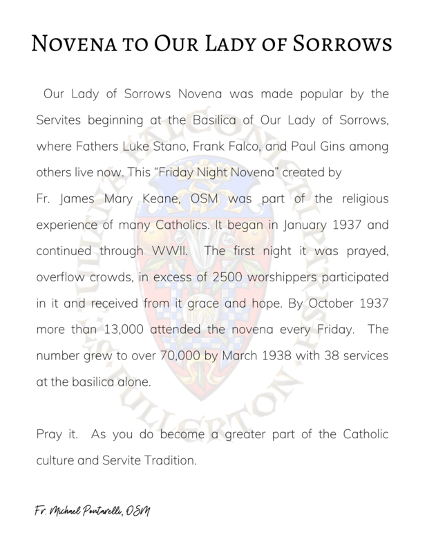 Novena to Our Lady of Sorrows Featured Photo