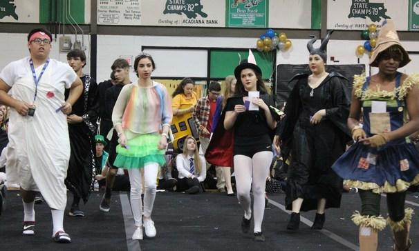 Students dancing for Renaissance