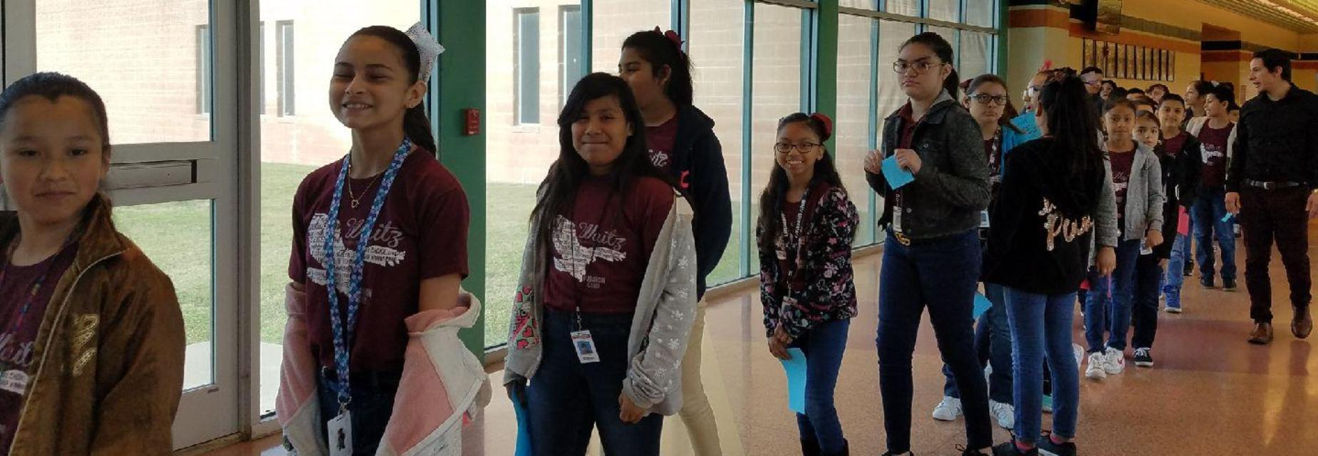 5th graders tour AMJH campus