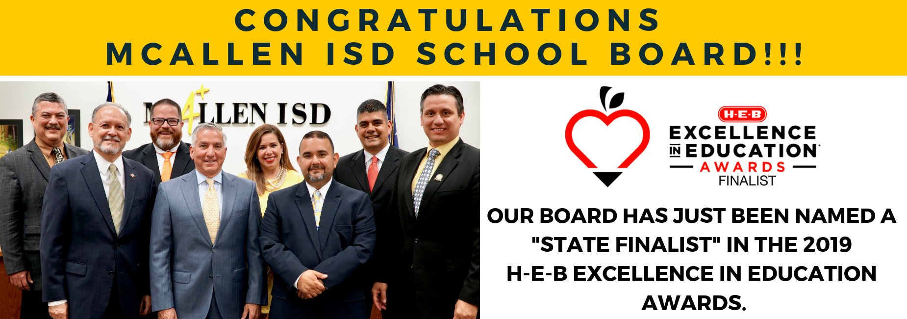 HEB Excellence In Education Award Finalist
