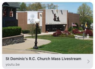 St. Dominic R.C. Church Livestream Mass - 11:30am - Sunday, March 29 Featured Photo