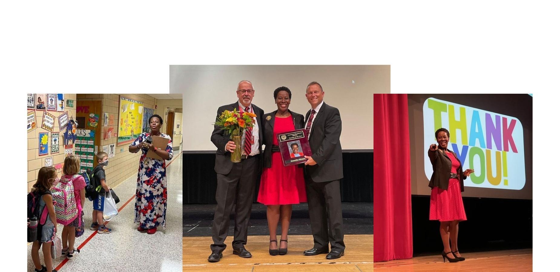 Mrs. Jennifer Moore Teacher of the Year.