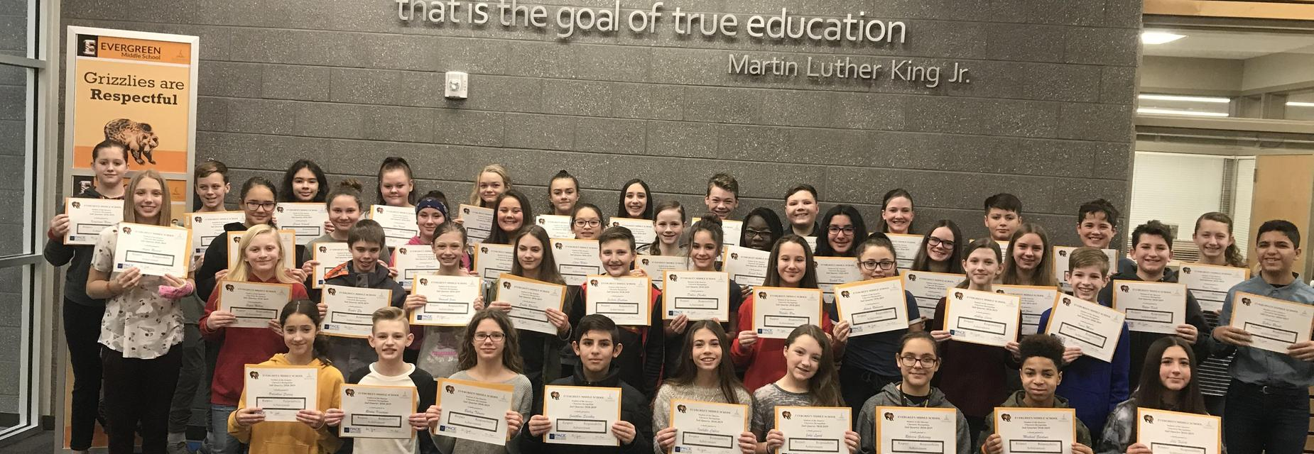 7th Grade Students of the Quarter-2nd Quarter