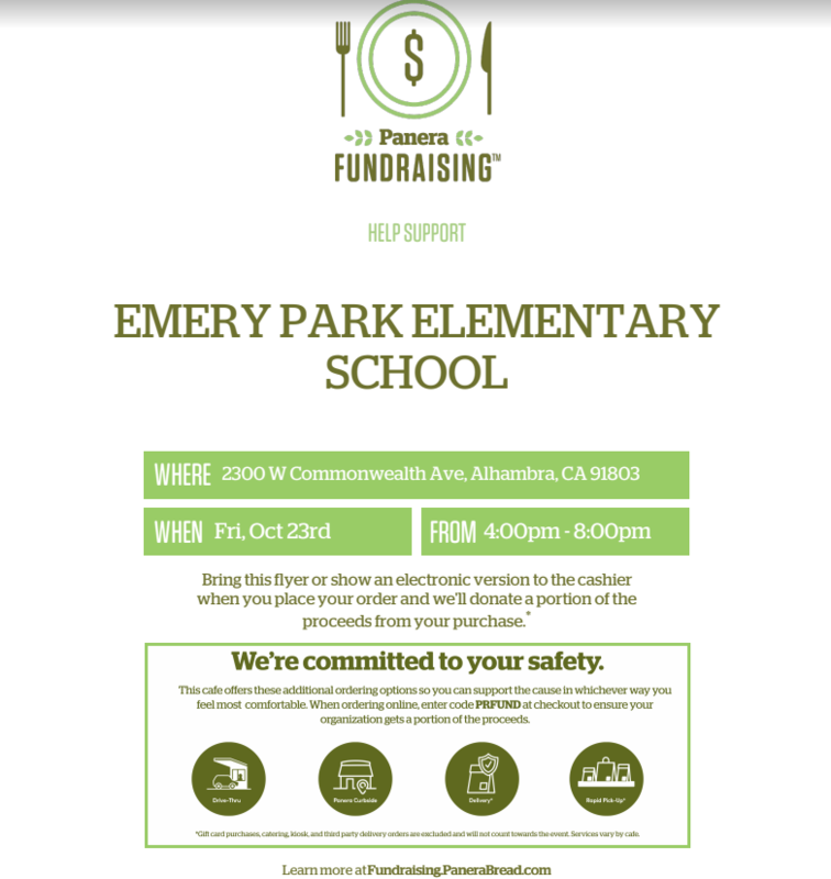 JOIN US AT PANERA FOR SOME YUMMY FOOD WHILE RAISING MONEY FOR OUR PTA Featured Photo