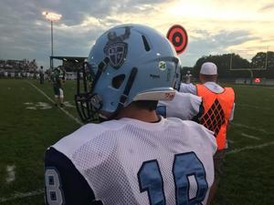 Jerod Witwicki '18 with #26 on his helmet