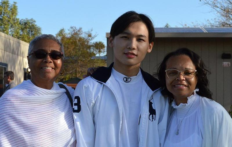 Carson Yu and his host family