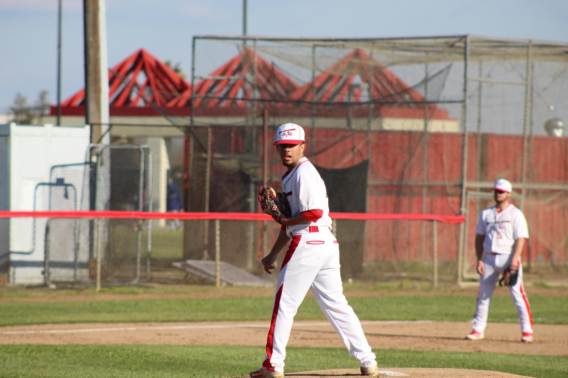 Varsity Baseball playing against Lemoore