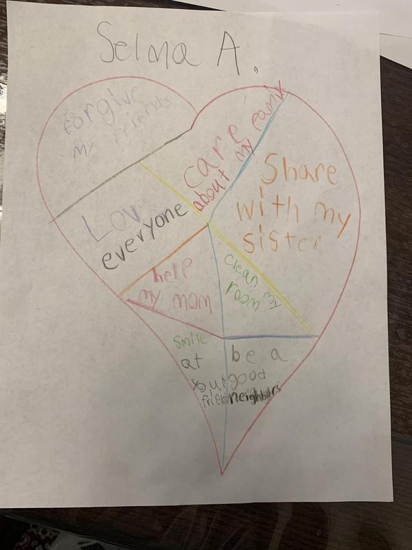 Selma's kindness heart drawing