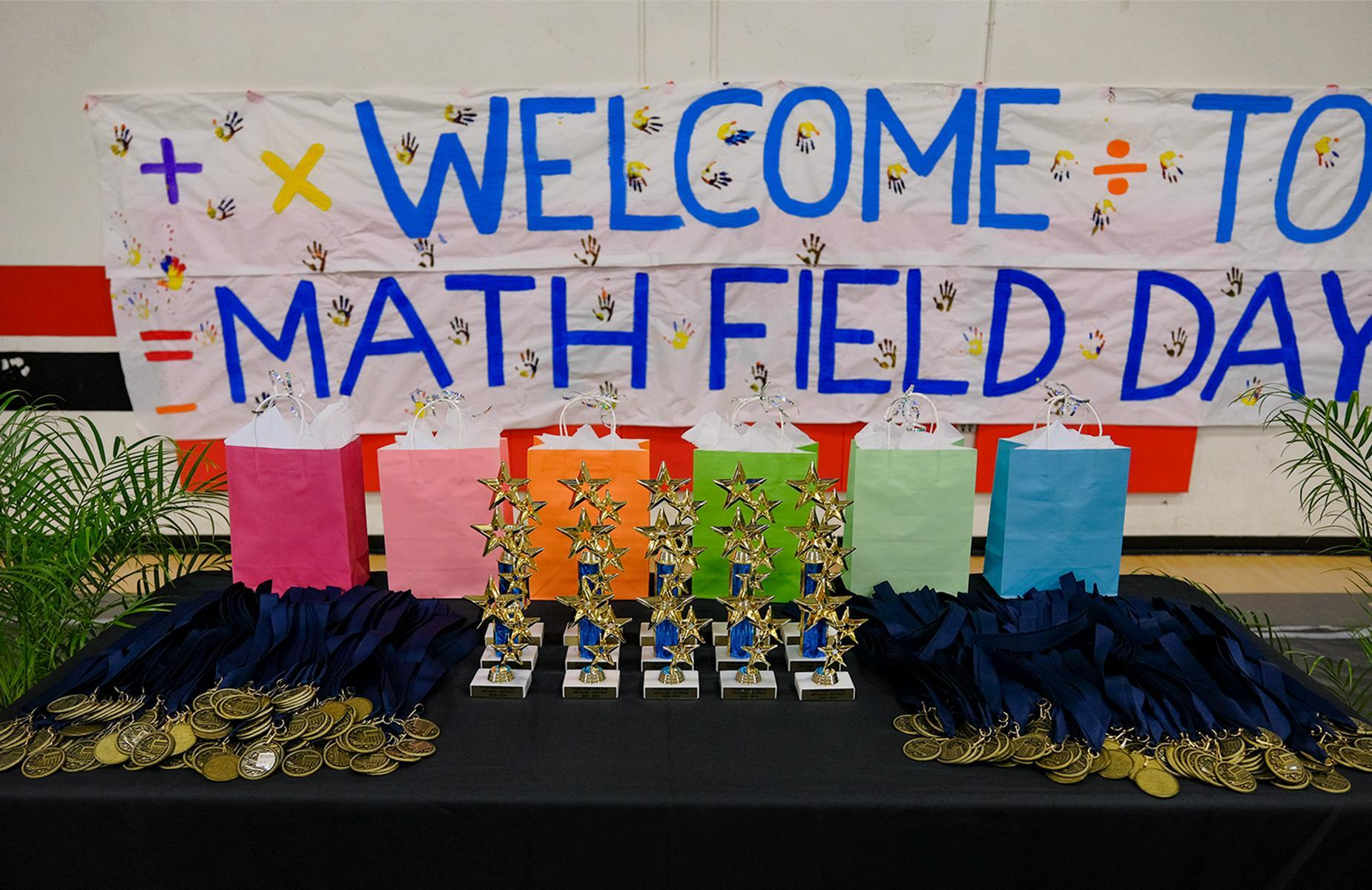 Math Field Day Trophies and Medals