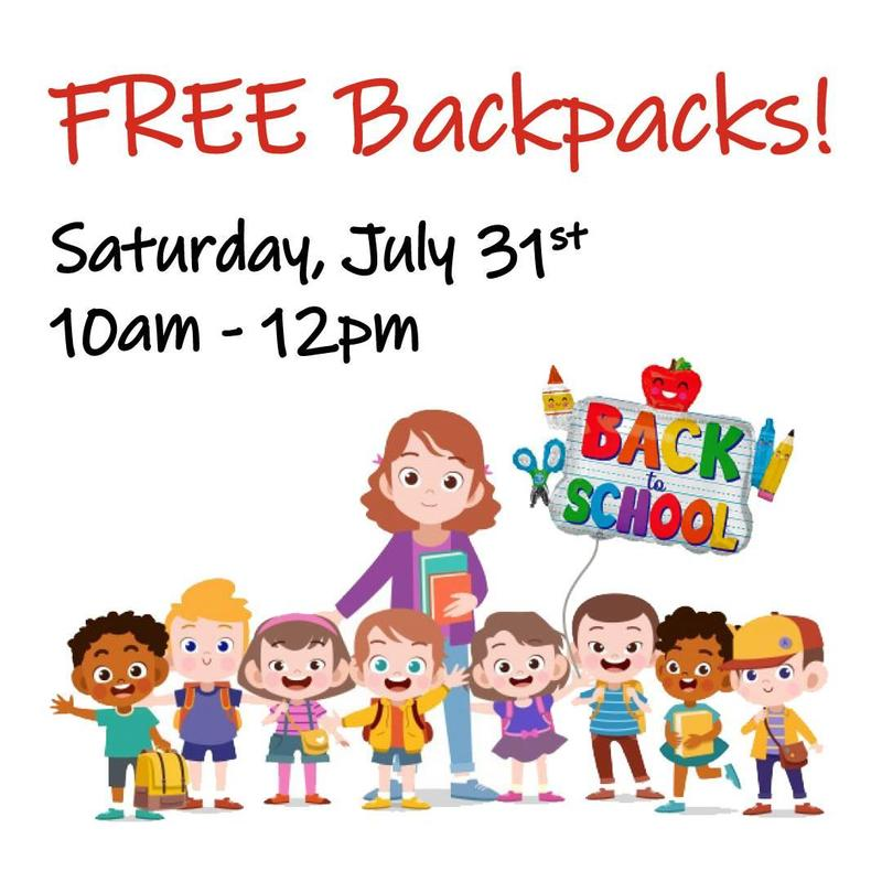 Free Backpacks and School Supplies Thumbnail Image