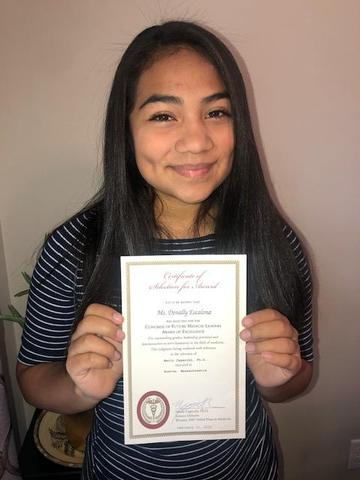 MCHS Sophomore, Denally Escalona, is Nominated for The Congress of Future Medical Leaders! Featured Photo
