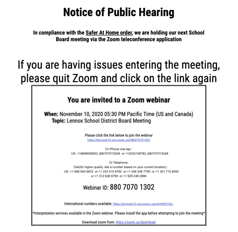virtual board meeting november 10