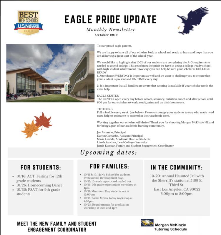 Eagle Pride Update: October Thumbnail Image