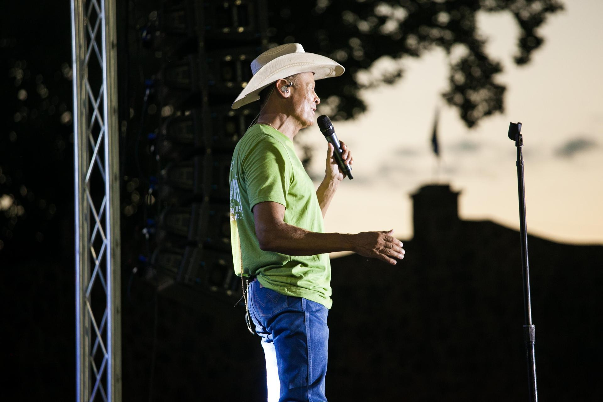 Neal on stage