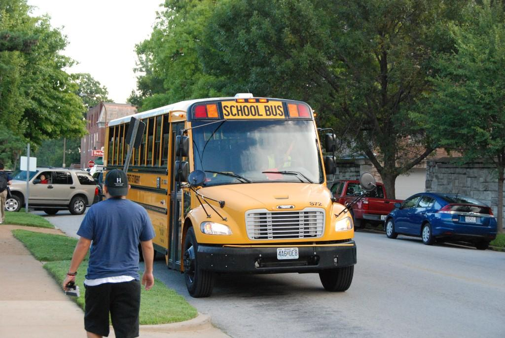 School bus, first day, 2016-17
