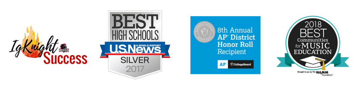 IgKnight Success - Best High Schools Silver 2017 - 8th Annual AP District Honor Roll - 2018 Best Communities for Music Education