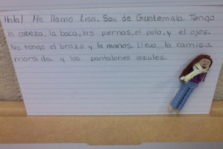 image of worry doll writing activity