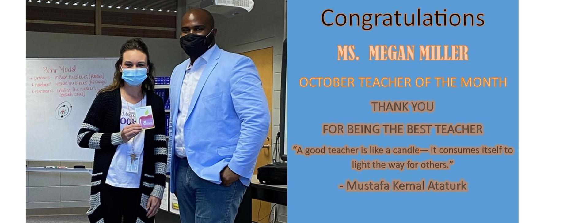 Teacher of the Month-October