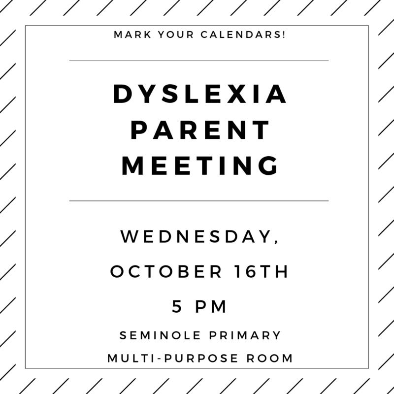 Dyslexia Parent Meeting Info