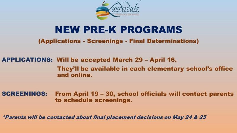 LCSD New Pre-K Programs Graphic