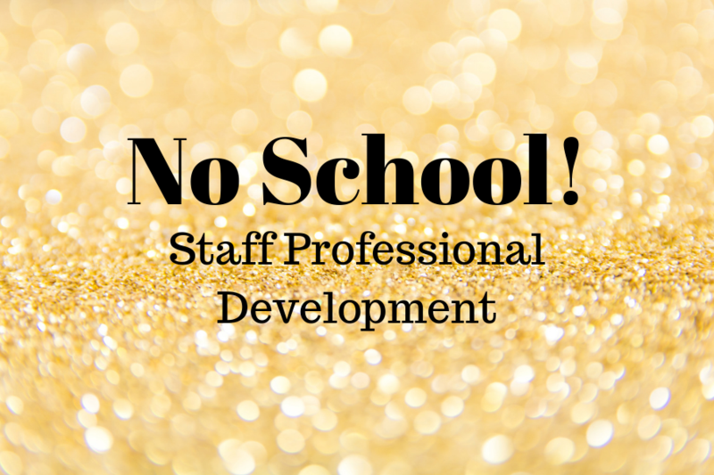 There is no school for students on September 23.  Staff on campus for professional development.