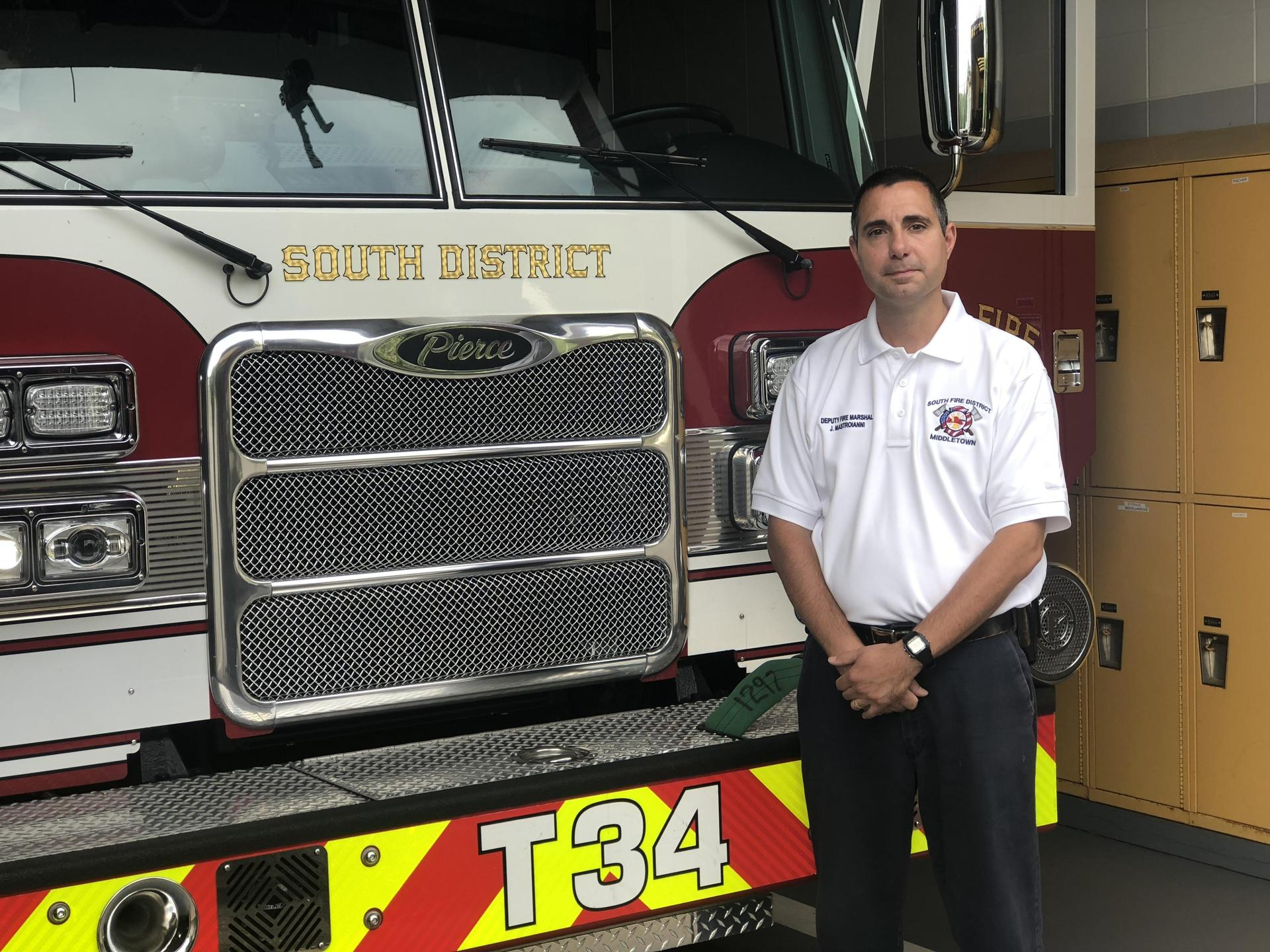 James Mastroianni '90 at the South District Fire Station