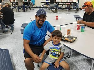 Dan and son at All Pro Dads Pizza Event