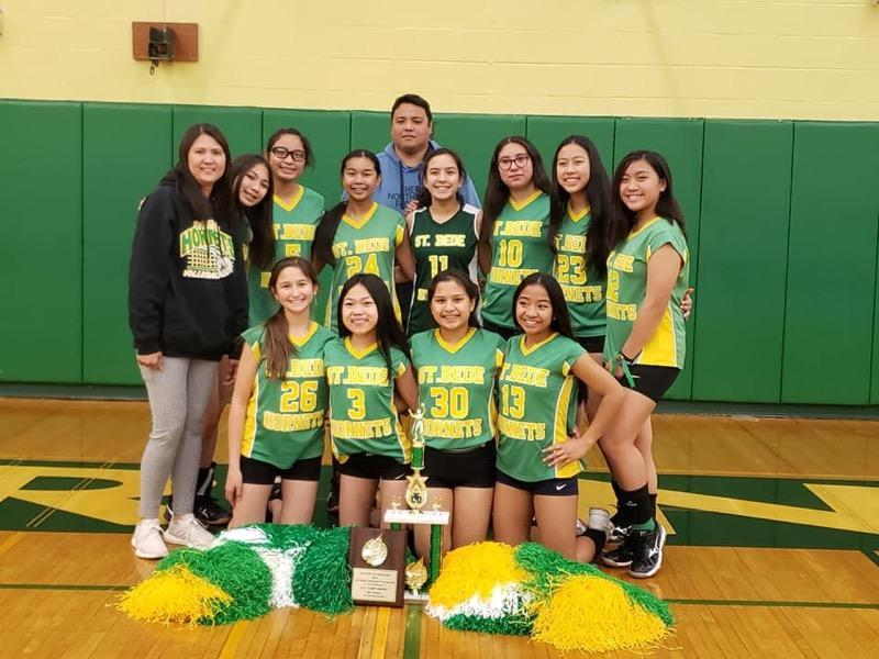 The 7th/8th grade volleyball girls team
