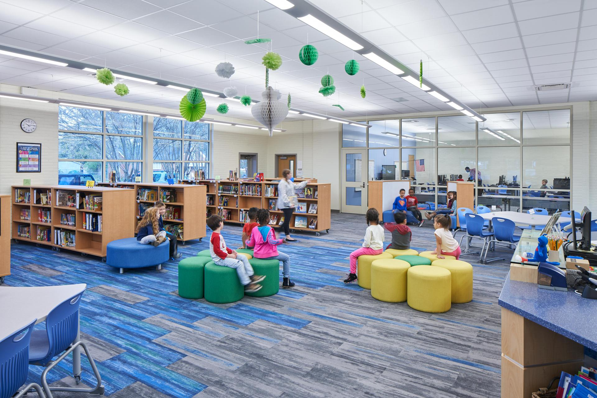 Media Center at Saluda River Academy for the Arts