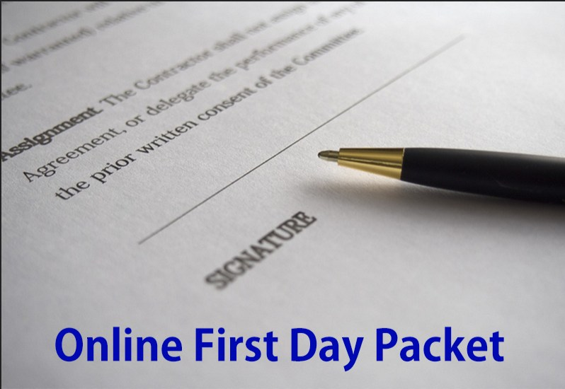 First Day Packets Due August 8th Thumbnail Image