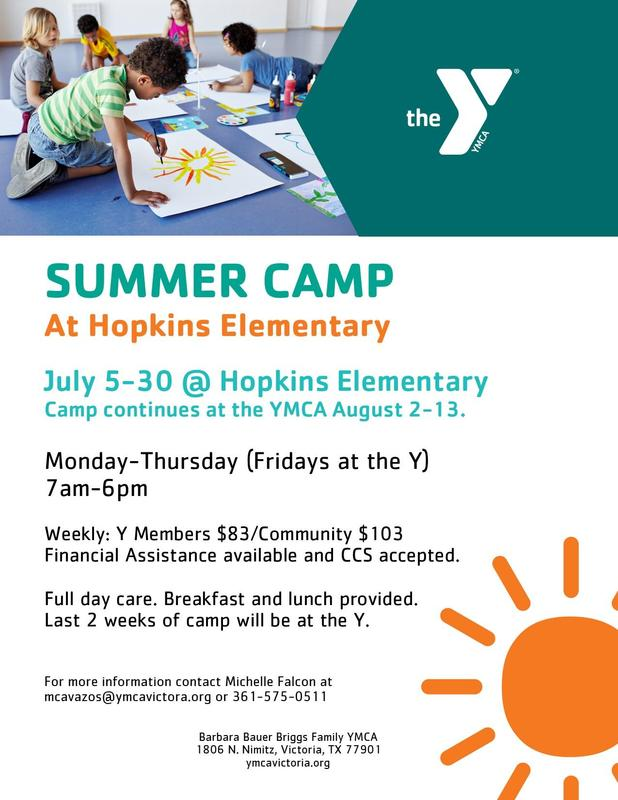 Y summer camp flyer