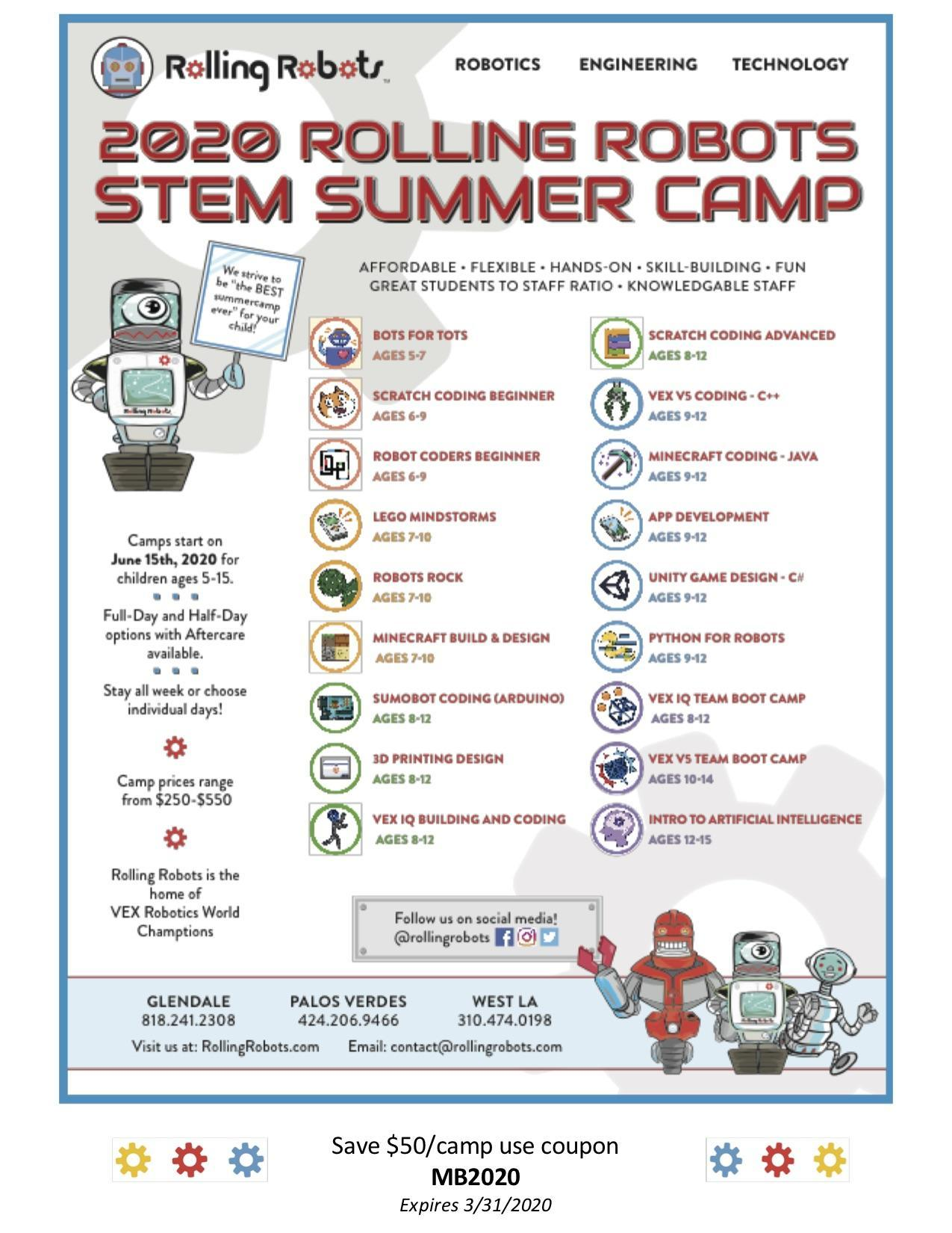 Rolling Robots Stem Camp
