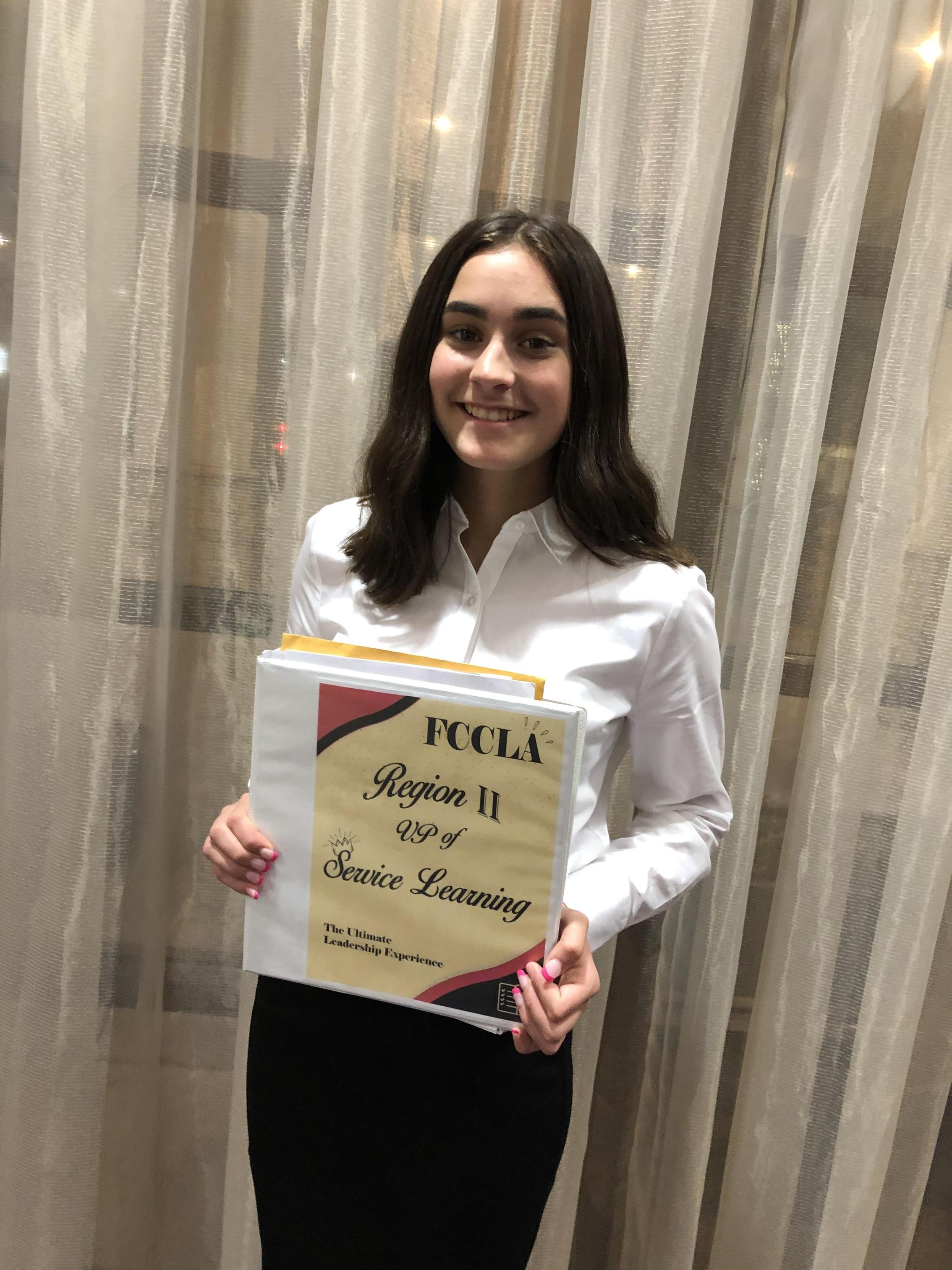 Sanger High FCCLA has the newly elected Region II Vice President of Service Learning